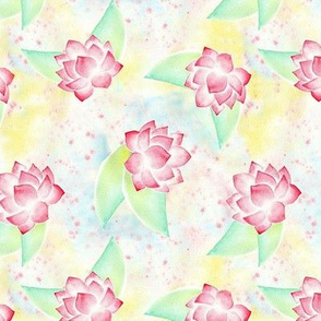 peonia on watercolor background
