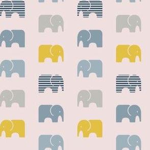 Elephant Parade Blue yellow