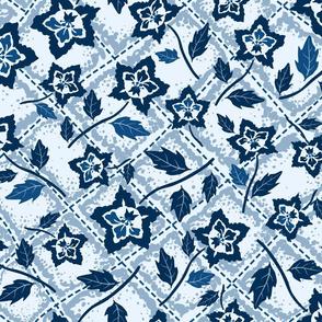 Stitched Flower Grid