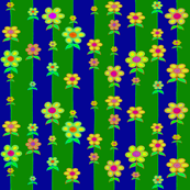 Springtime Flora and Fauna - Large Scale Blue Green