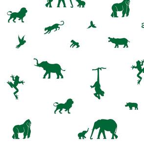jungle animals green