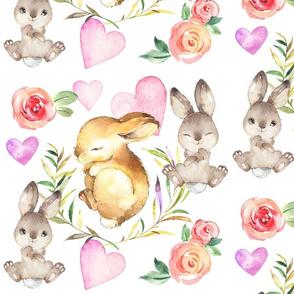 Floral Sleepy Bunny