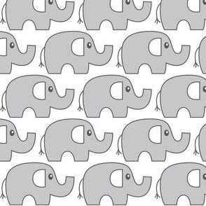 grey elephant stampede