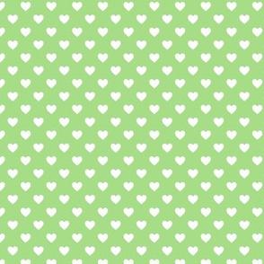 HeartShaped Dots Green