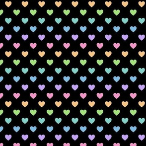 HeartShaped Dots Rainbow