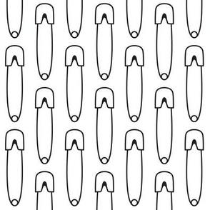 vertical diaper pins black on white