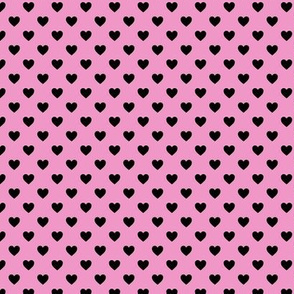 Heartshaped Pink Black