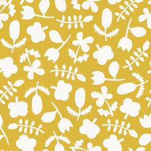 Folk Floral Cut Outs | Yellow