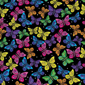 Butterfly Party Scatter- Black Background