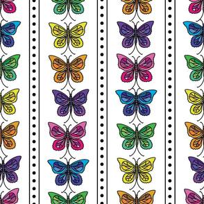 Butterfly Party Stripe
