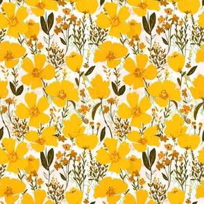 yellow roaming wildflowers - small