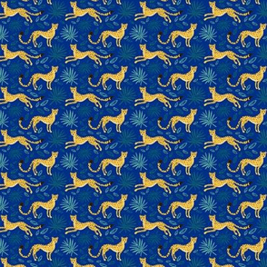 Stealthy Cheetahs (blue background, tiny scale)
