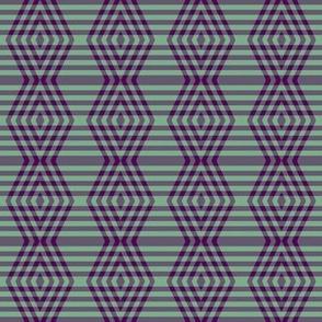 JP6 - Medium - Buffalo Plaid Diamonds on Stripes in Royal Purple and Ocean View Green Pastel