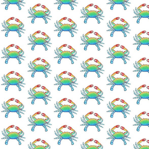 Blue Crab Fabric