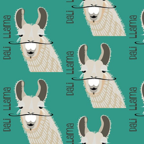 Dali Llama - teal