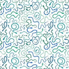 fancy snakes_blue on white small