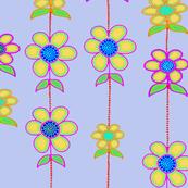 Spring Flowers  - Blue 24x24