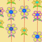 Spring Flowers Yellow - 24x24