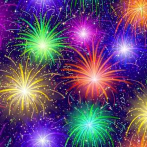 Fireworks Navy  Confetti