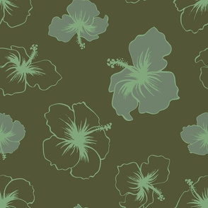 Hibiscus - Military Green