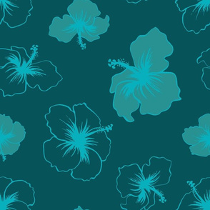 Hibiscus - Teal