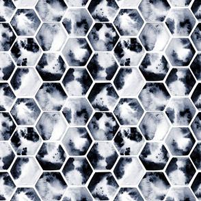 watercolor monochrome polygons
