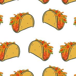 Taco Night on White - Large