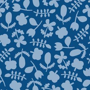 Folk Floral Cut Outs | Blues