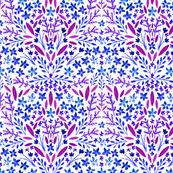 Gouache Floral Purple
