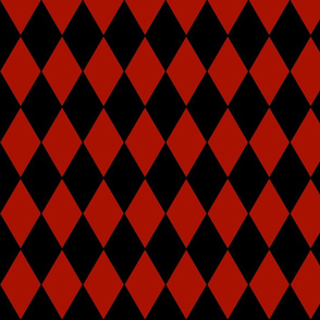 Harlequin Diamonds ~ Turkey Red and Black