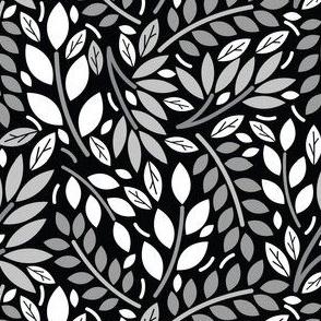 Geometric Botanicals Black And White