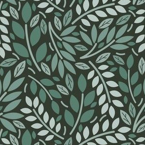 Geometric Botanicals Emerald Green