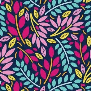 Geometric Botanicals Multicolor