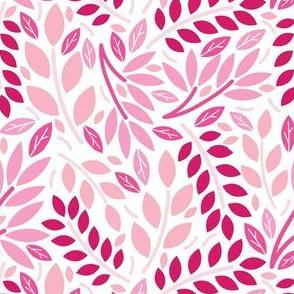 Geometric Botanicals Pink