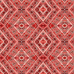 Red abstract plaid