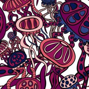 Dark Red Jellyfish Bloom