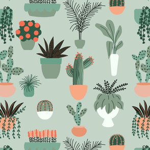 Flower Pots Pattern