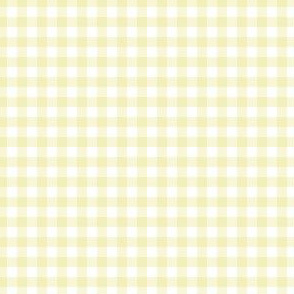 "4"" Light Yellow Gingham"