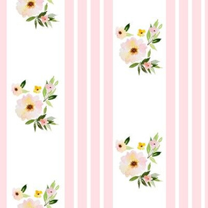 "8"" Spring Florals with Pink Ticking"