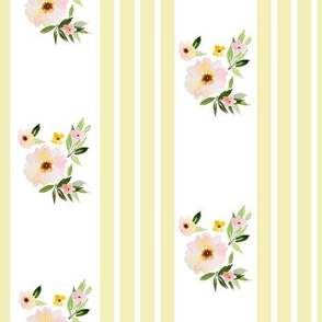 "8"" Spring Florals with Yellow Ticking"