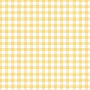 "4"" Spring Yellow Gingham"