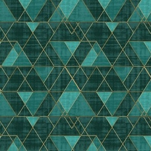 Mod Triangles Emerald Teal S
