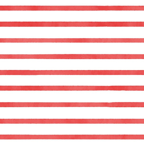 Watercolor Stripes - Red