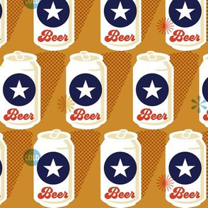 Pop Tops* || beer cans vintage packaging halftone dot screen star aluminum