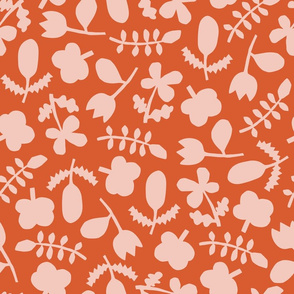 Folk Floral Cut Outs | Pink + Vermilion