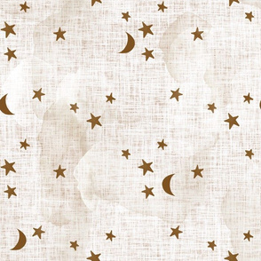 19-16 stars and moons // sugar sand linen