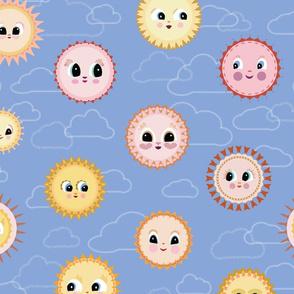 Kitsch Suns in Clouds