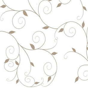 Curly Vines Leaves-Taupe2