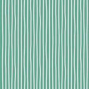 Irregular hand drawn stripes breton marine Parisian style St Patrick's Day minimal basic vertical sage green