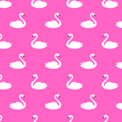 Swans - hot pink - small